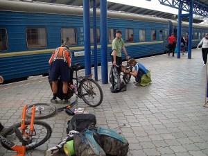 Поезд – экономный логист велосипедиста