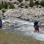 Переправа над водой — По бревну и жердевому мосту