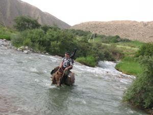 Как переправится через реку с лошадью