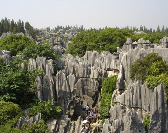 Каменный лес в Юньнани