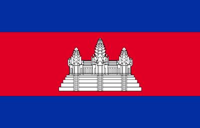 флаг Камбоджи - Ангкор Ват
